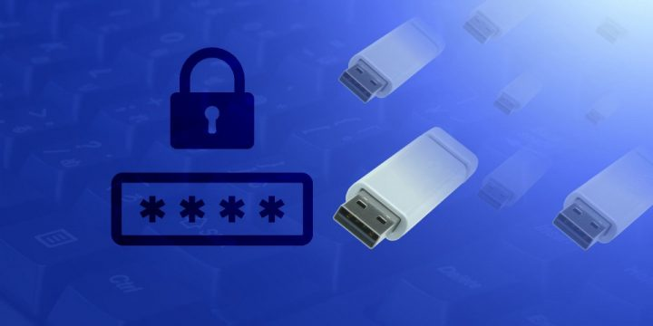 Putting passwords to a pen-drive
